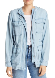 AQUA Chambray Military Jacket - 100% Exclusive