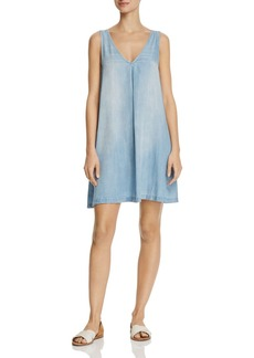 AQUA Chambray Sleeveless A-Line Dress - 100% Exclusive