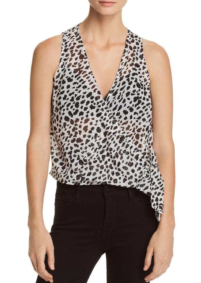 AQUA Cheetah Print Faux-Wrap Top - 100% Exclusive