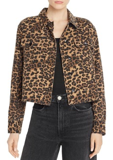 AQUA Cheetah-Print Jacket - 100% Exclusive