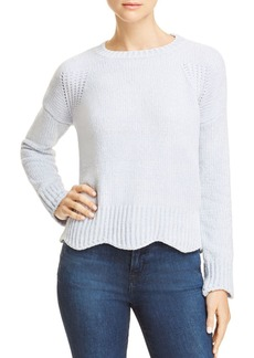 AQUA Chenille Pointelle Scallop Hem Sweater - 100% Exclusive