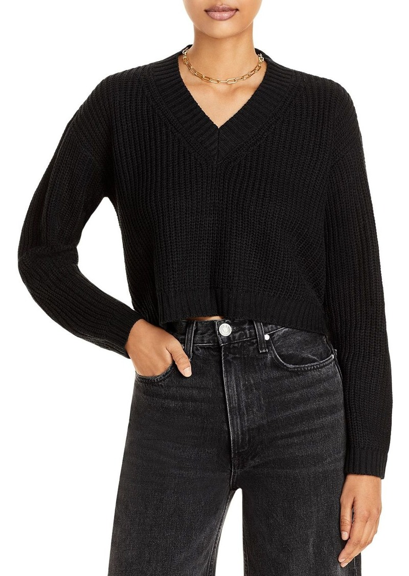 AQUA Chunky Knit Cropped Sweater - 100% Exclusive