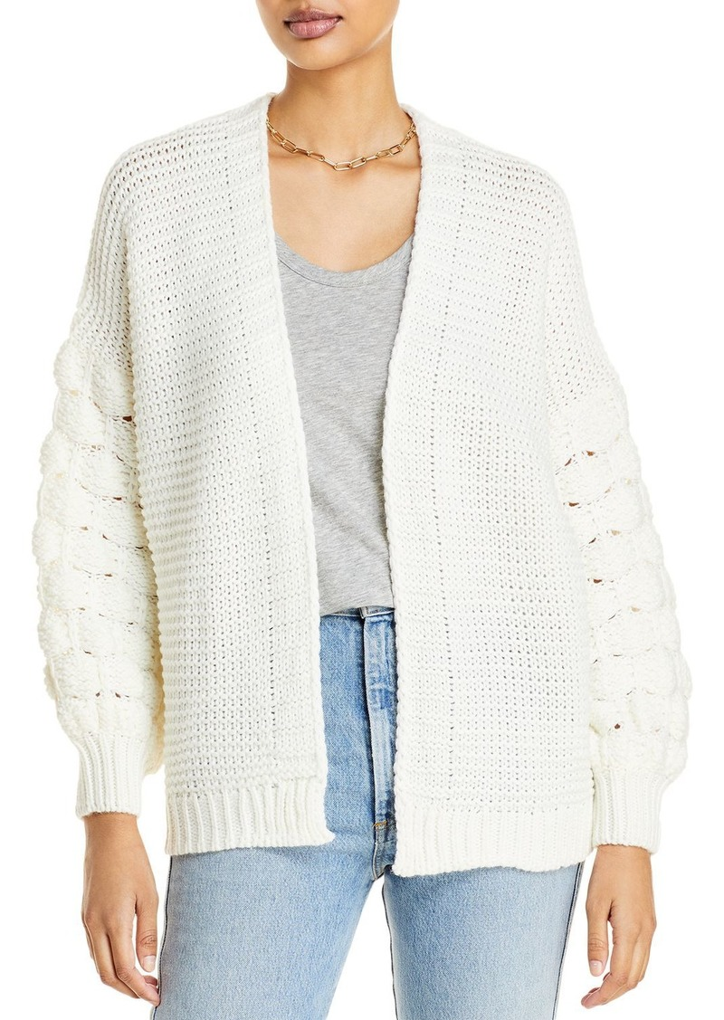 AQUA Chunky Mixed Knit Open Front Cardigan - 100% Exclusive
