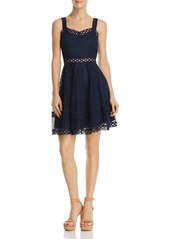 AQUA Circle Lace Fit-and-Flare Dress - 100% Exclusive