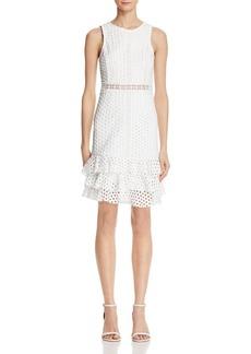 AQUA Circle Lace Ruffle Body-Con Dress - 100% Exclusive