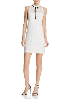 AQUA Circle Lace Tie Neck Dress - 100% Exclusive
