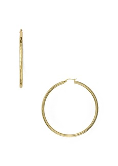 AQUA Classic Hoop Earrings in 18K Gold-Plated Sterling Silver or Sterling Silver - 100% Exclusive