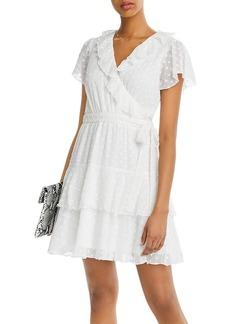 AQUA Clip-Dot Faux-Wrap Dress - 100% Exclusive