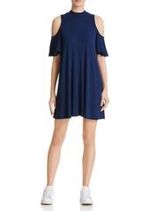 AQUA Cold Shoulder Flutter Dress - 100% Exclusive