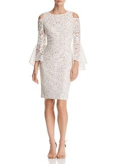 AQUA Cold-Shoulder Lace Dress - 100% Exclusive