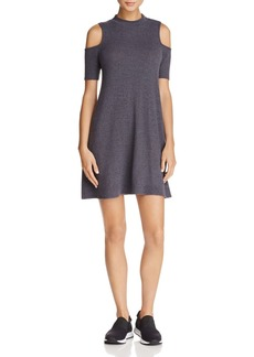 AQUA Cold-Shoulder M�lange Knit Dress - 100% Exclusive