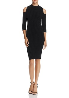 Aqua Cold-Shoulder Ribbed Cashmere Dress - 100% Exclusive