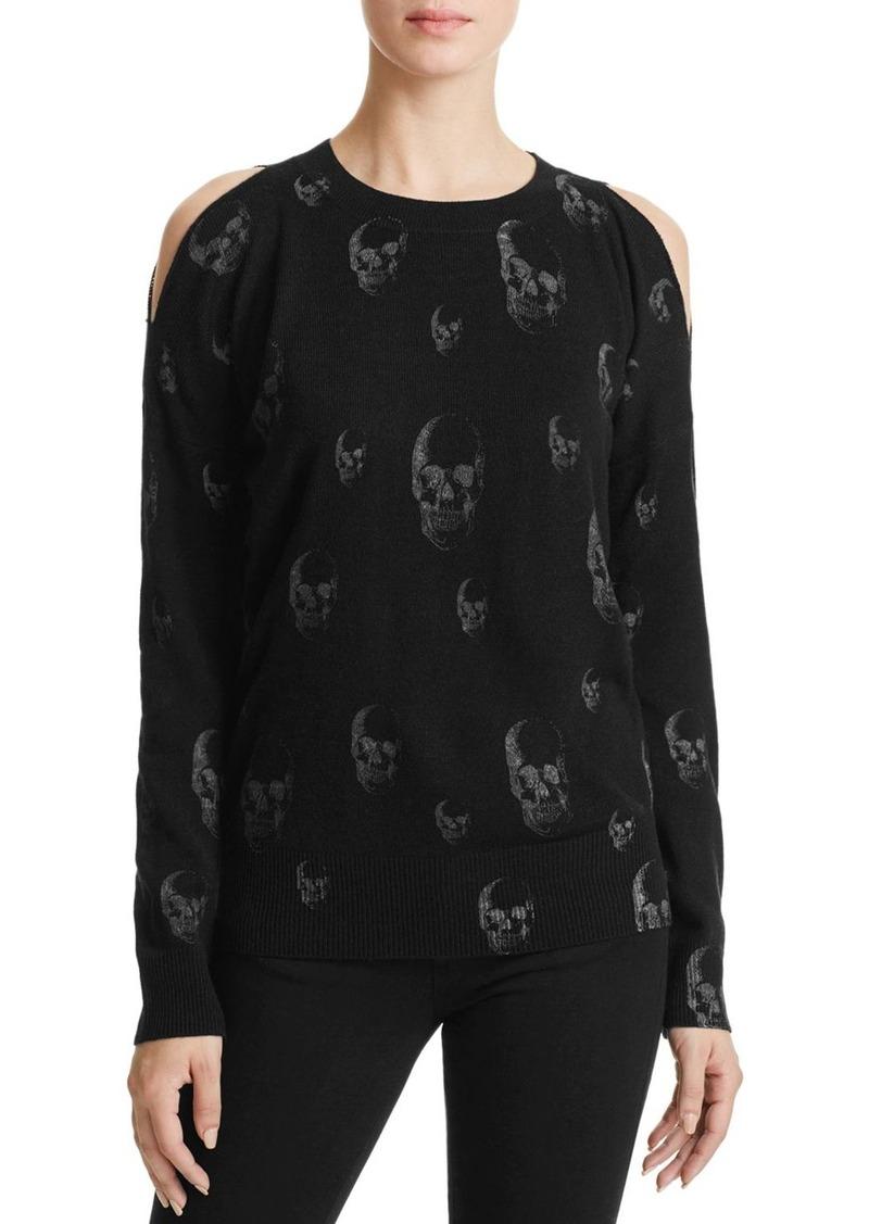 AQUA Cold Shoulder Skull Sweater - 100% Exclusive
