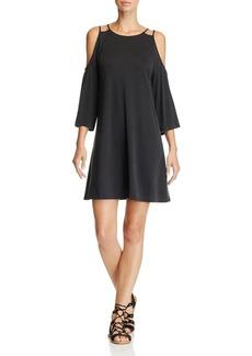 AQUA Cold Shoulder Trapeze Dress - 100% Exclusive