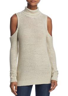 AQUA Cold-Shoulder Turtleneck Sweater - 100% Exclusive