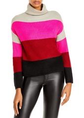 AQUA Color Blocked Stripe Turtleneck Sweater - 100% Exclusive