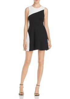 AQUA Contrast Fit-and-Flare Dress - 100% Exclusive