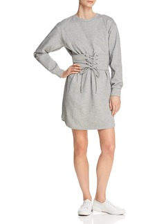 AQUA Corset Detail Sweatshirt Dress - 100% Exclusive