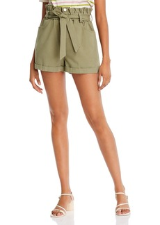 AQUA Cotton Paperbag-Waist Shorts - 100% Exclusive