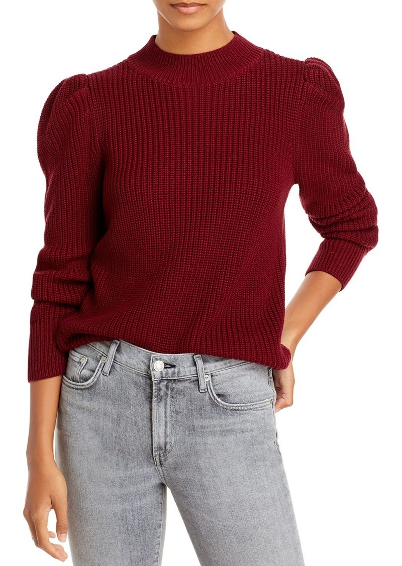AQUA Cotton Puff Sleeve Mock Neck Sweater - 100% Exclusive