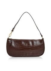 AQUA Croc-Embossed Shoulder Bag - 100% Exclusive