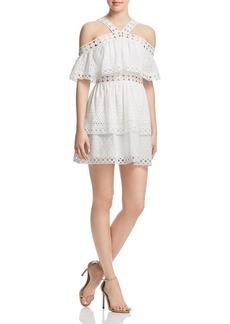 AQUA Crochet-Inset Ruffled Eyelet Dress - 100% Exclusive