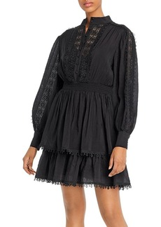 AQUA Crochet Trim Long-Sleeve Dress - 100% Exclusive