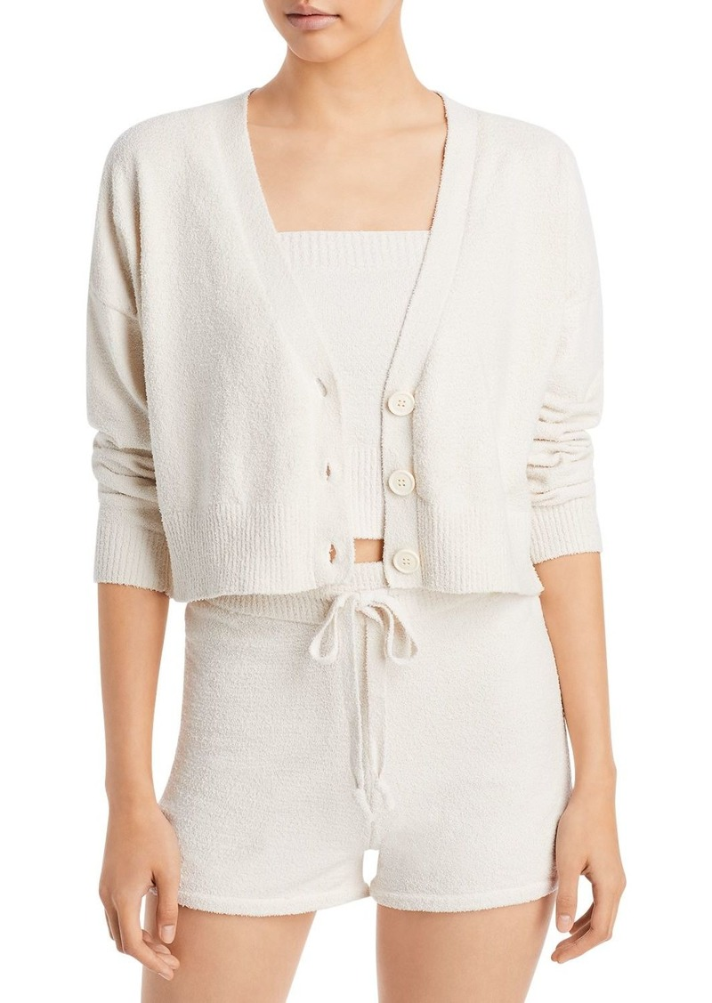 AQUA Cropped Button Cardigan - 100% Exclusive