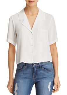 AQUA Cropped Pajama Shirt - 100% Exclusive