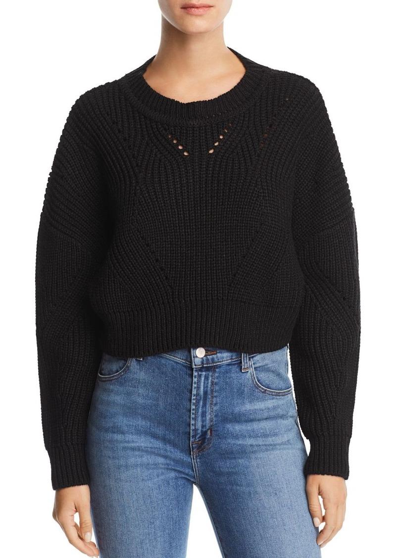 7cc1159609a Aqua AQUA Cropped Pointelle Sweater - 100% Exclusive