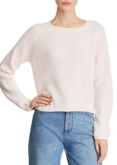 AQUA Cropped Sweater - 100% Exclusive