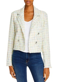 AQUA Cropped Tweed Blazer - 100% Exclusive