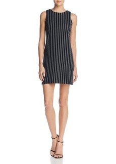 AQUA Cross Back Pinstripe Knit Dress - 100% Exclusive
