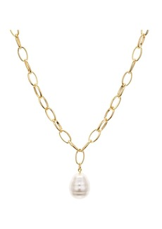 "AQUA Cultured Freshwater Pearl Pendant Chain Necklace, 26"" - 100% Exclusive"