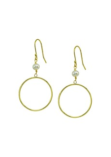 AQUA Cultured Pearl & Circle Drop Earrings - 100% Exclusive