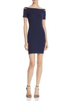 AQUA Cutout Shoulder Ribbed Body-Con Dress - 100% Exclusive
