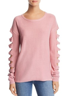 AQUA Cutout-Sleeve Sweater - 100% Exclusive