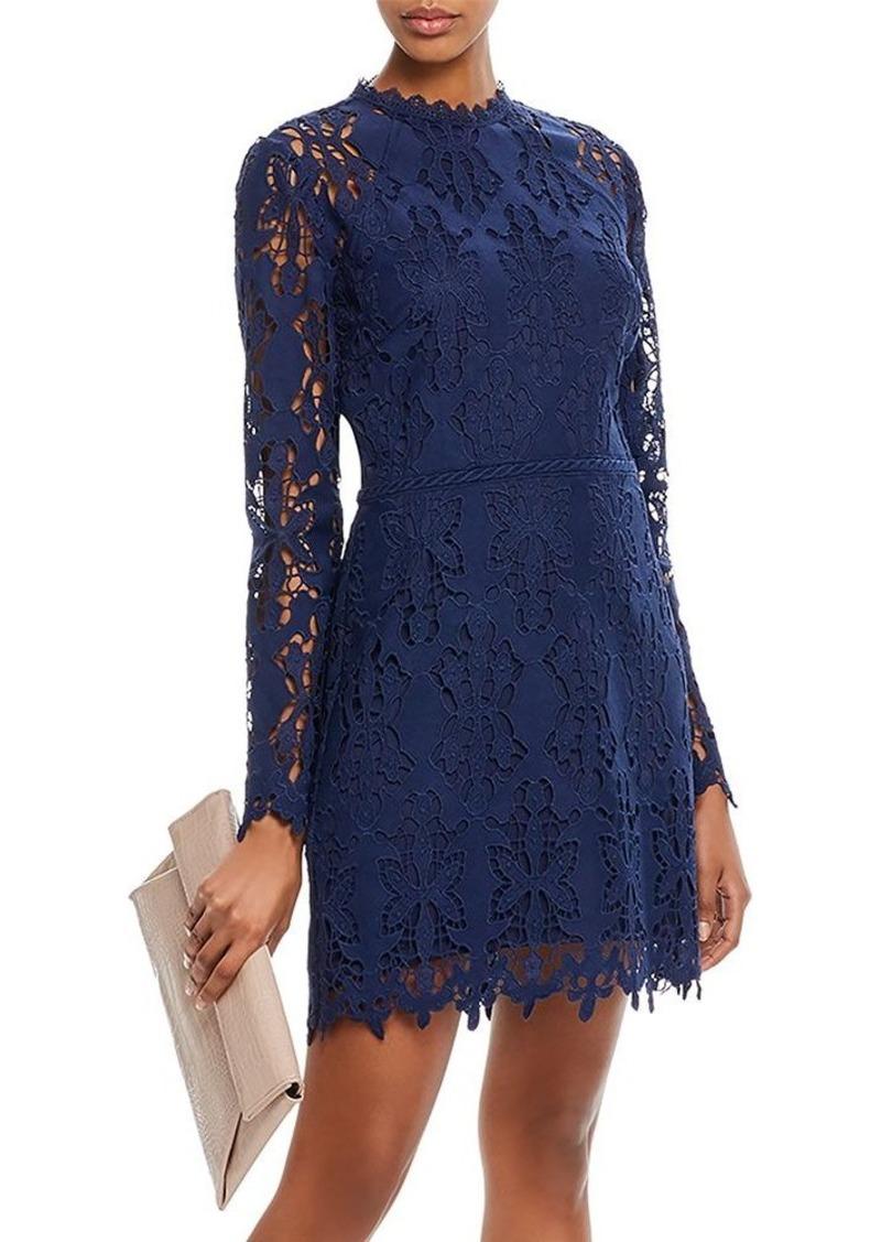 AQUA Cutwork Lace Sheath Dress - 100% Exclusive