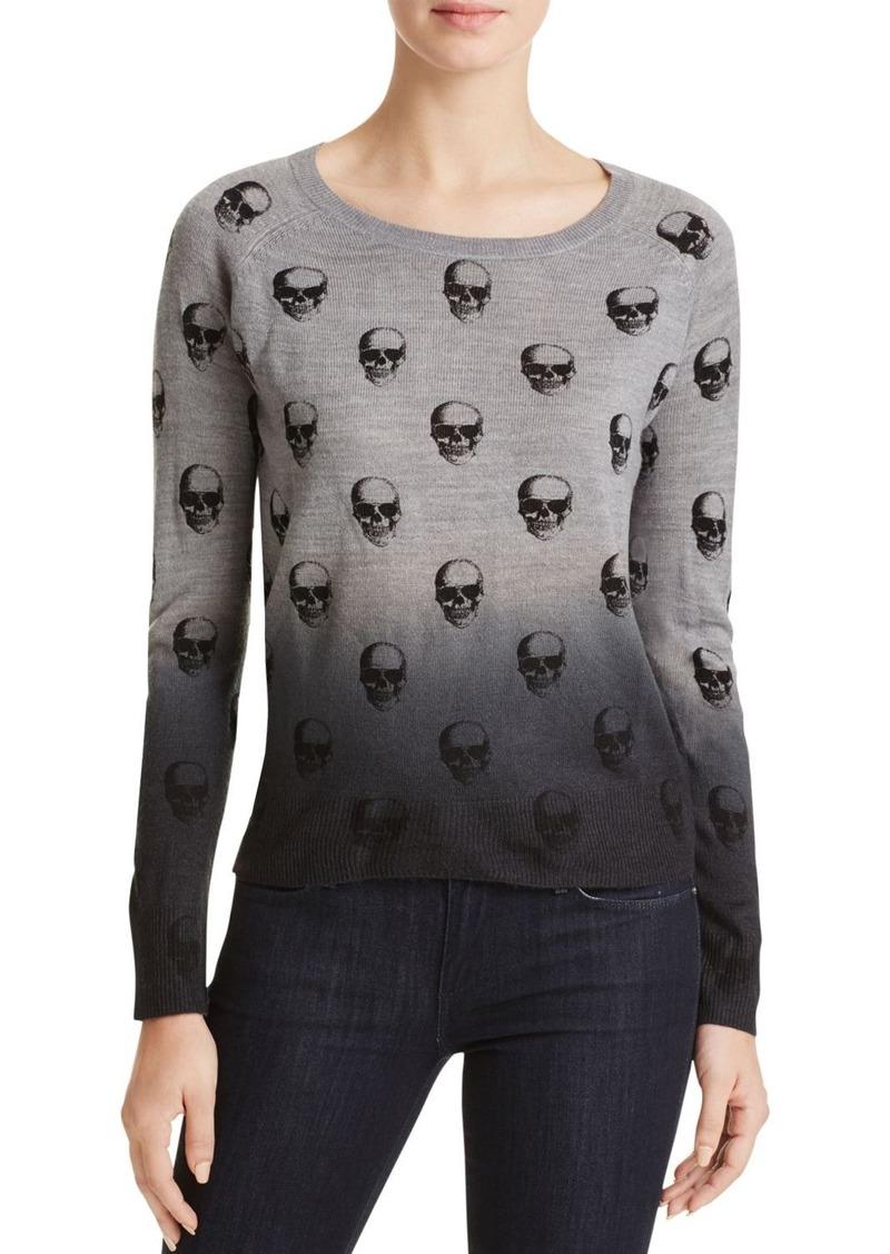 AQUA Dip Dye Skull Sweater