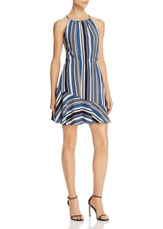 AQUA Directional Stripe Flounce Dress - 100% Exclusive