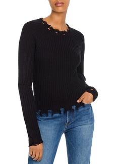 AQUA Distressed Shaker-Stitch Sweater - 100% Exclusive