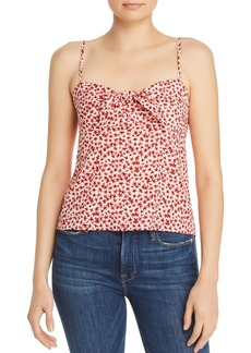 AQUA Ditsy Floral Tie-Front Top - 100% Exclusive