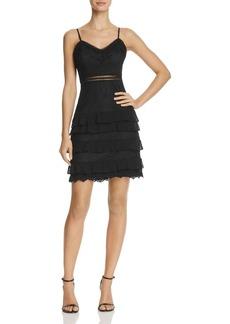 AQUA Dot Lace Midi Ruffle Dress - 100% Exclusive
