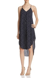 AQUA Dot Midi Slip Dress - 100% Exclusive