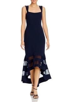 AQUA Double-Strap Illusion Hem Midi Dress - 100% Exclusive
