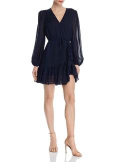 AQUA Drawstring Faux-Wrap Dress - 100% Exclusive