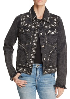 AQUA Embellished Denim Jacket - 100% Exclusive
