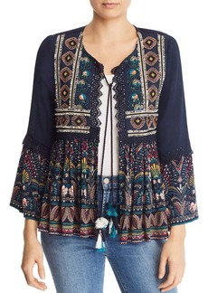 AQUA Embellished Printed Jacket - 100% Exclusive
