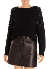 AQUA Embellished Sleeve Sweater - 100% Exclusive