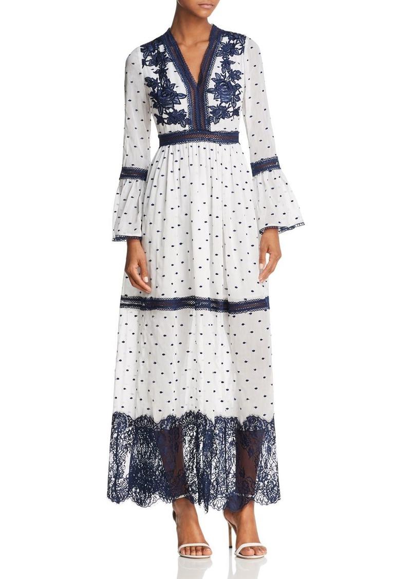 130f764c199a Aqua AQUA Embroidered Bell Sleeve Maxi Dress - 100% Exclusive